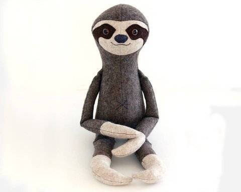 Sloth toy sewing pattern - pdf sewing pattern tutorial