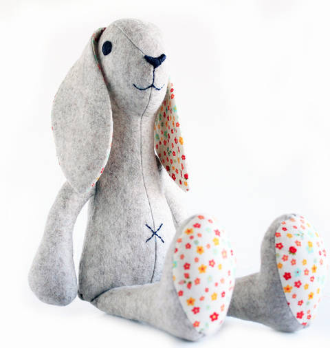 Bunny rabbit sewing pattern - Stuffed toy sewing pattern