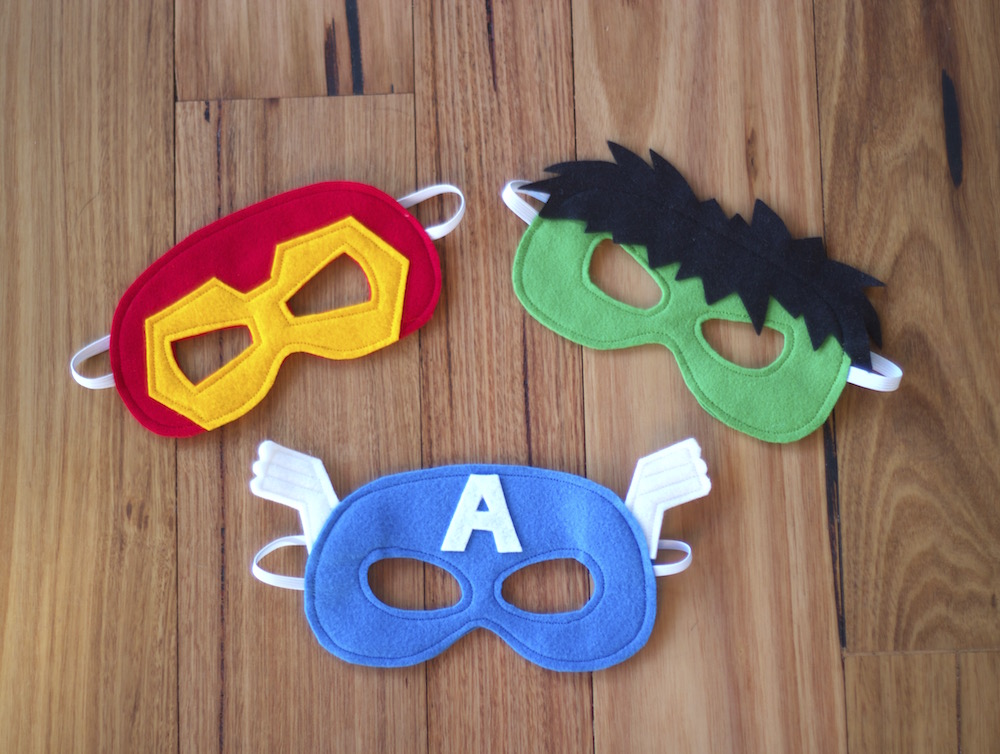 Superhero Masks - Iron Man, Hulk and Captain America Costumes