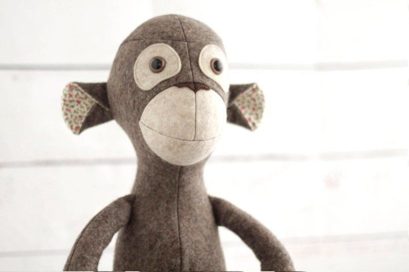 Monkey sewing pattern - instant download pdf at Makerist - Image 1