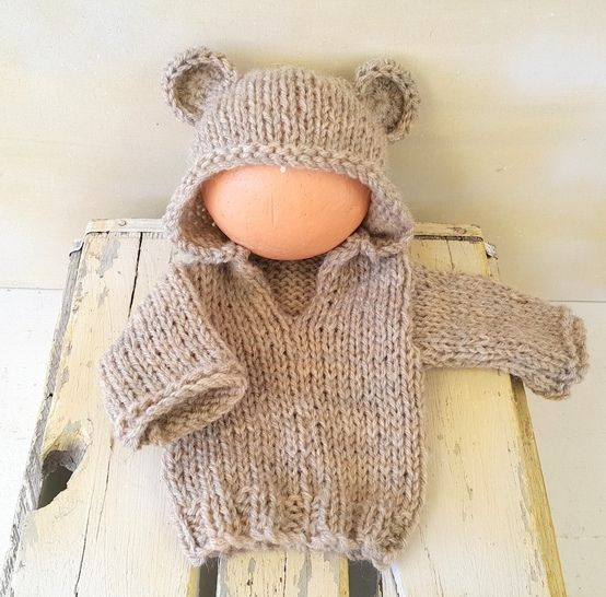 Baby Bear Hoodie Sweater at Makerist - Image 1