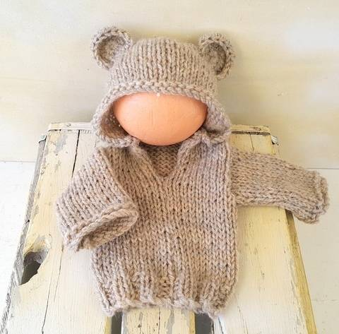 Baby Bear Hoodie Sweater at Makerist