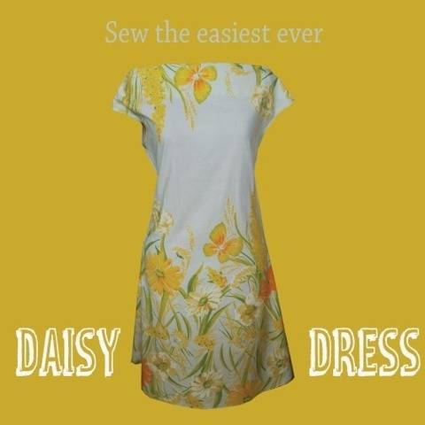 Daisy Dress - simple to sew summer dress pdf pattern