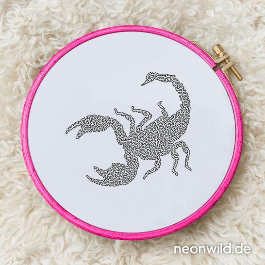 Stickdatei EEE - Skorpion 16x26 bei Makerist - Bild 1