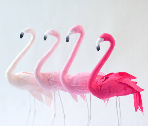 Pink Flamingo decoration - detailed sewing pattern at Makerist