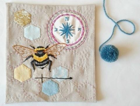 Bee Embroidery Pattern at Makerist