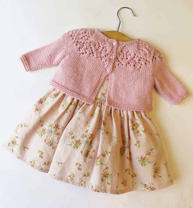 Baby Cardigan Lace Knitting Pattern Top Down