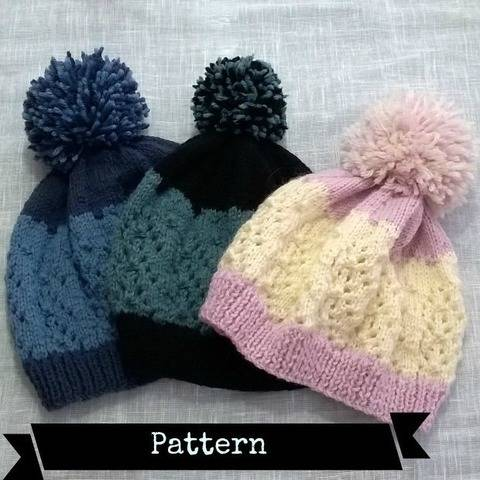 Chic Mountain Hat ..knitting pattern. at Makerist
