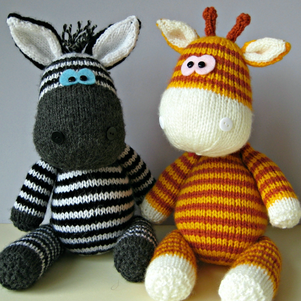 Gerry Giraffe and Ziggy Zebra