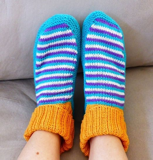 4ply slipper socks - PDF knitting pattern - Selena at Makerist - Image 1