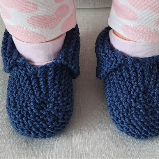 Baby shoes or slippers in 8ply garter stitch - Cynthia at Makerist - Image 1