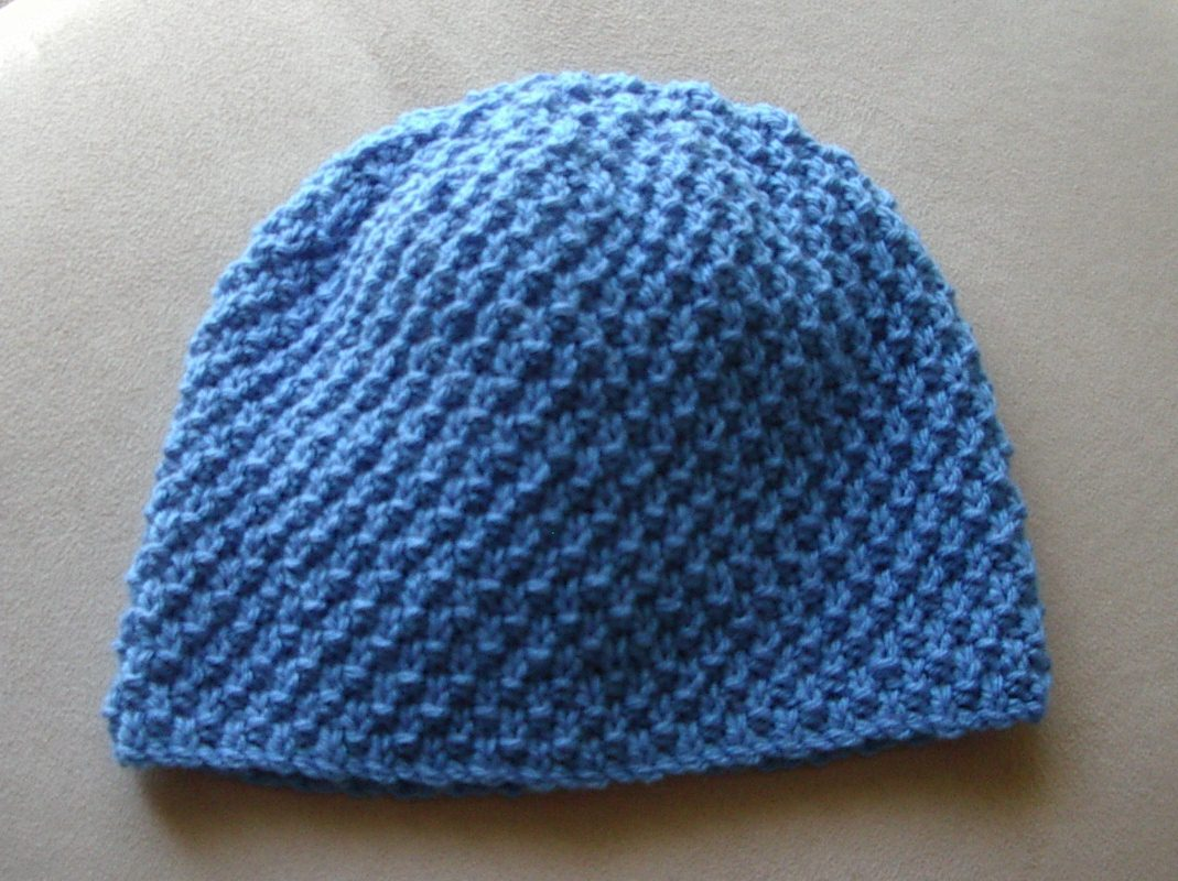 12ply double moss beanie, 2 years to lady - Mandy