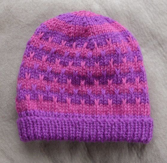 Slip stitch, striped, beanie, 2 years to Lady - Polly at Makerist - Image 1