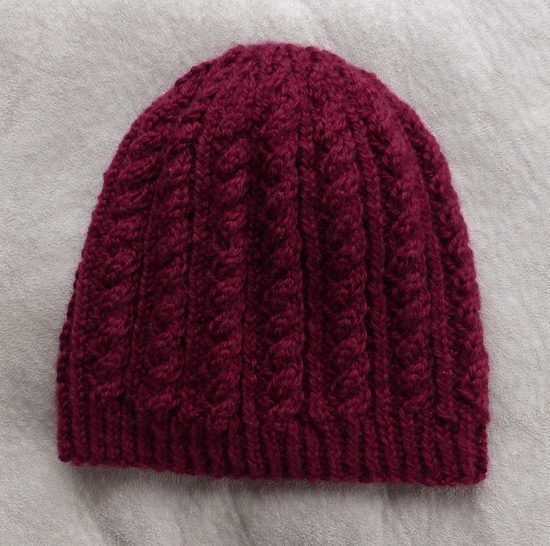 Cable and rib beanie in 8ply, sizes 2 years to Lady - Sally at Makerist - Image 1