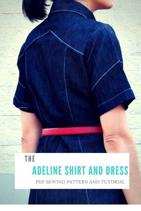 Adeline Dress and Shirt PDF Sewing Pattern and Tutorial