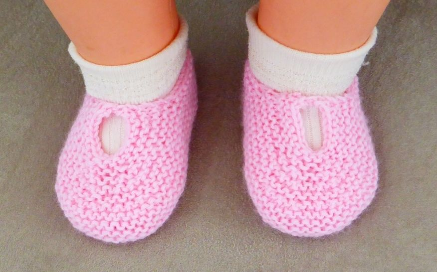 Baby shoes in garter stitch, in 4ply yarn - Monica at Makerist - Image 1