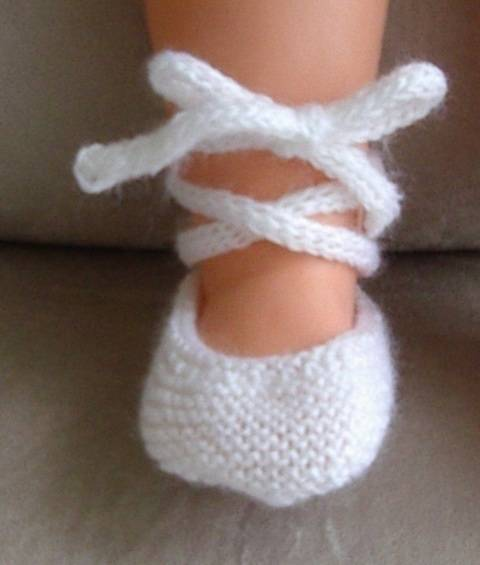 Baby 3ply ballet shoes with i-cord ankle tie - Natasha