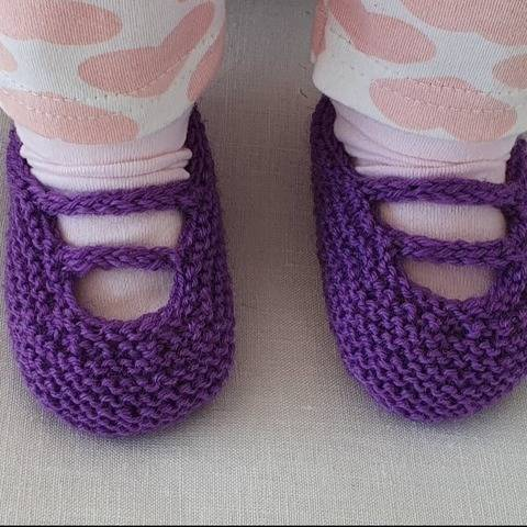 Baby shoes with i-cord bars, in 4ply - Veronica