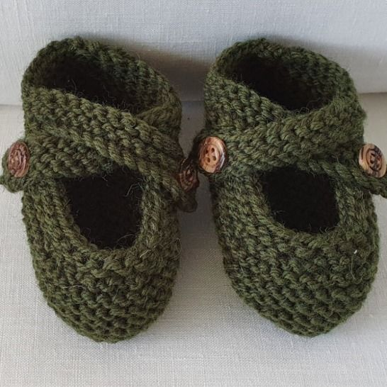 Baby shoes with buttoned ankle straps - Melinda at Makerist - Image 1