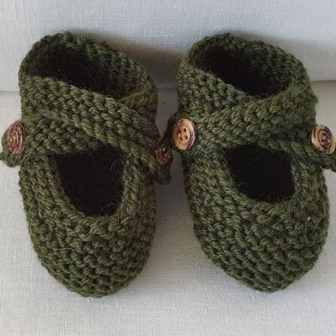 Baby shoes with buttoned ankle straps - Melinda
