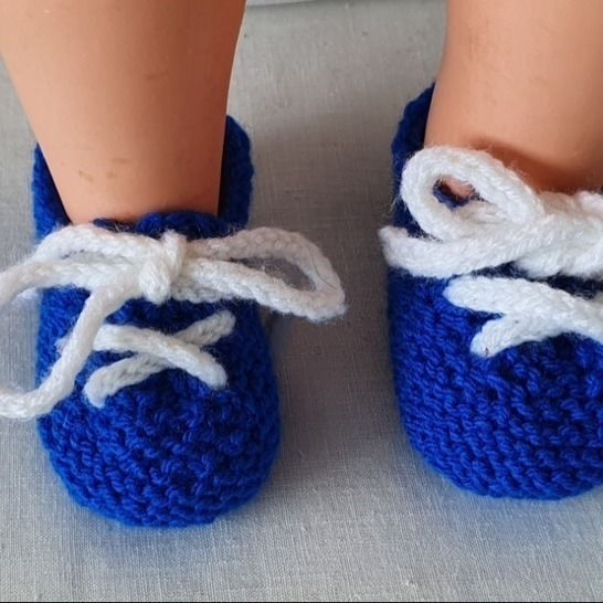 Babies garter stitch shoes or slippers with laces - Joshua at Makerist - Image 1