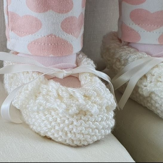 Baby shoes with lace edging - knitting pattern - Keisha at Makerist - Image 1