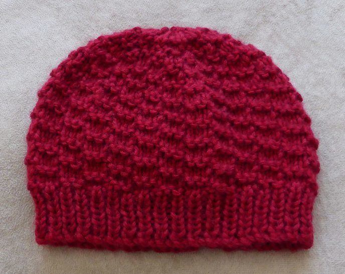 Baby's 8ply textured Beanie with rib band - Riley at Makerist - Image 1