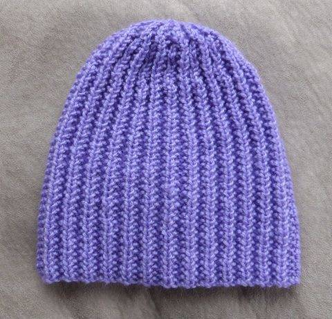 Broken rib beanie in 8ply, sizes 2 years to Lady - Casey