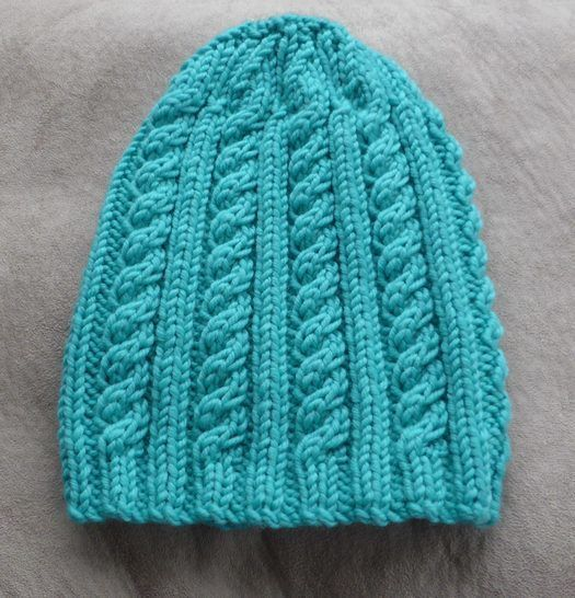 Cable and rib beanie, sizes 6 years to Lady - Lesley at Makerist - Image 1