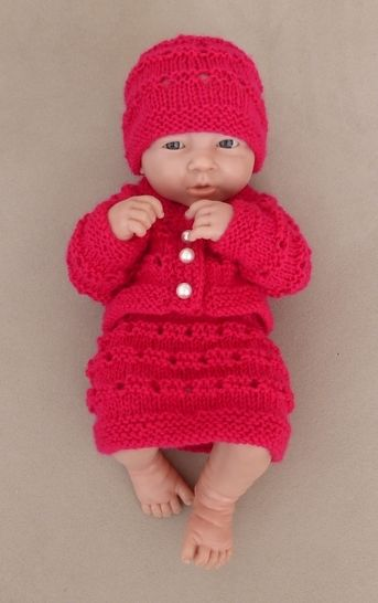 Dolls beanie, cardigan and skirt - Daniella at Makerist - Image 1