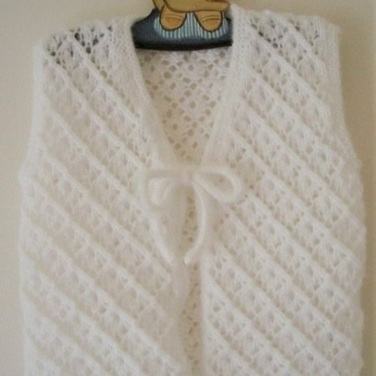 Girl's lace cardigan and vest - knitting pattern - Paige at Makerist - Image 1