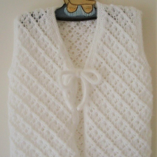 Girl's lace cardigan and vest - knitting pattern - Paige