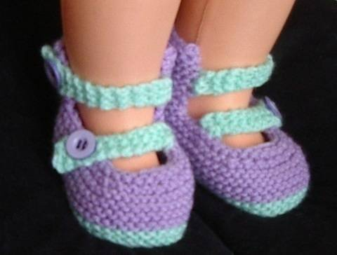 Baby shoes in two colours with buttoned straps - Alexandra