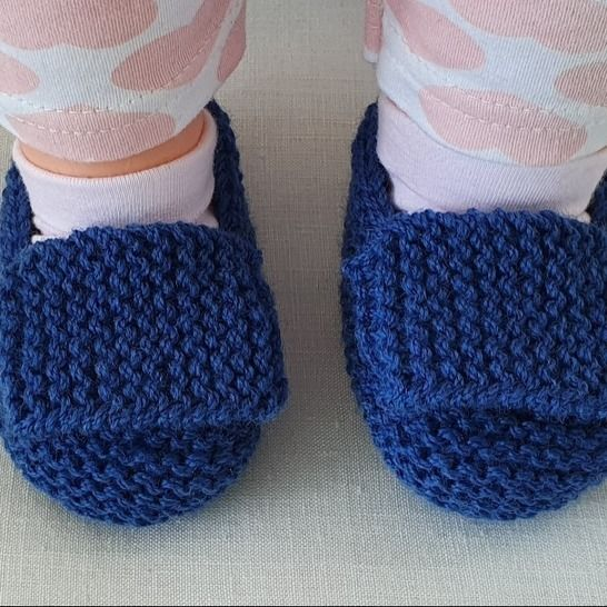 Baby shoes in garter stitch with a wide foot strap - Amelia at Makerist - Image 1
