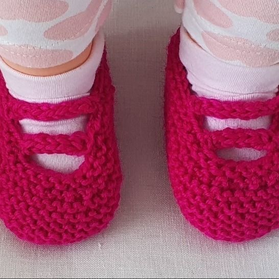 Baby shoes with i-cord bars - knitting pattern - Andrea at Makerist - Image 1