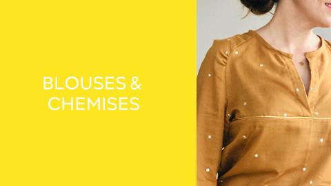 Patrons de couture : hauts - blouses
