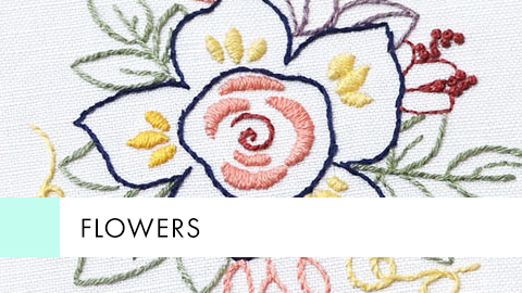 Flowers - Embroidery