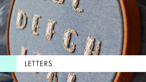 Letters - Embroidery