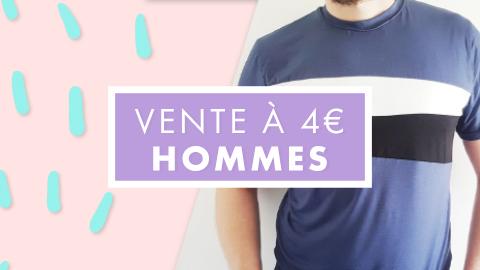 Vente 4€ sélection hommes