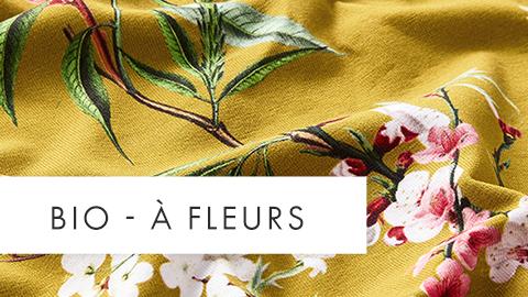 Tissus bio à fleurs