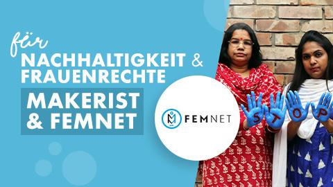 Makerist & FEMNET: Nachhaltigkeit & Frauenrechte