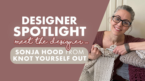 An interview with the creator of the Perfect Pockets Shawl: Sonja