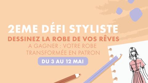Défi styliste : co-création d'un patron de robe via un concours de dessins !