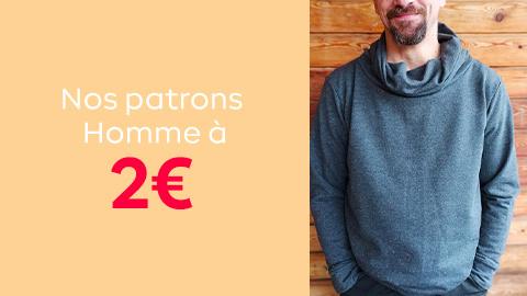 Nos patrons de couture pour homme à 2€