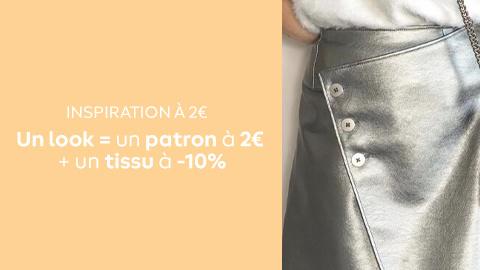 Ils sont mieux à deux : nos looks qui associent patrons à 2€ et tissus à -10%