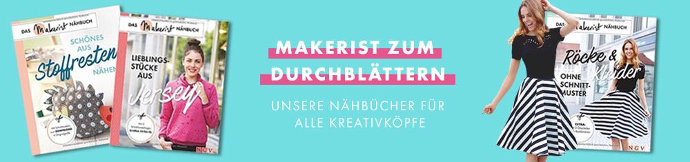Makerist zum Durchblättern - unsere Nähbücher im NGV Verlag