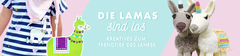 Die Lamas sind los - Kreatives zum Trendtier des Jahres