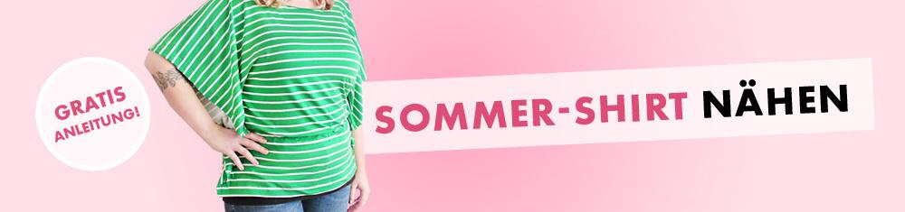 Sommershirt aus Viscose-Jersey nähen - Makerist-Nähbücher zu gewinnen!