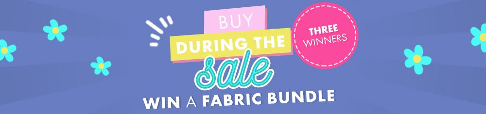 Buy patterns during $2 sale in March and take part in our contest to win fabric bundle !