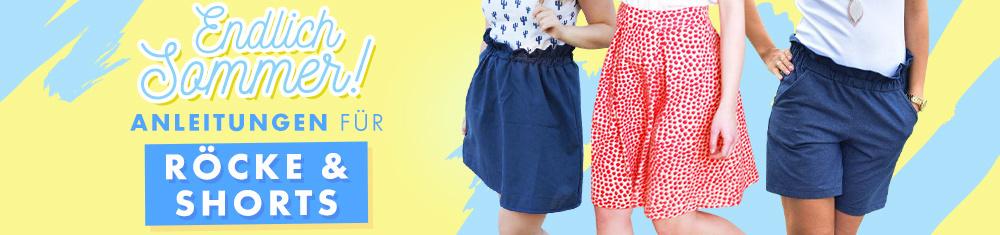 Anleitungen für Röcke & Shorts
